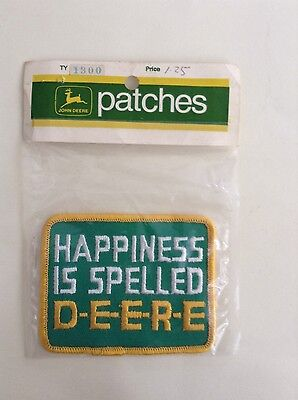 Vintage 1972 John Deere Snowmobile Patch Happiness ... free shipping NOS