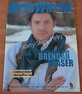 Singapore Airlines Kris World Brendan Fraser~Backstreet Boys 1999 Inflight Magz