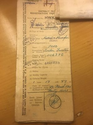 1949 Fordson E27N Tractor with Perkins P4 Engine Log Book