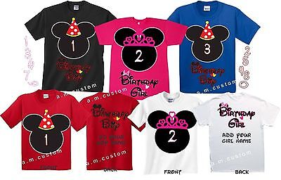 Birthday BOY Birthday Girl Custom T-shirts Mickey and Minnie Cute Design 2T-Ly