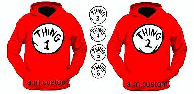 thing 1 and thing 2 Hoodies nice cute new kids adults thing one two Halloween