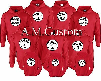 thing 1 and thing 2 Hoodies nice cute new kids adults thing mom dad Halloween