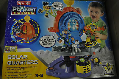 NEW-Fisher Price Planet Heroes Solar Quarters and Figures Bundle