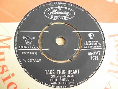 """Great!!!   Phil Phillips & The Twilights  """"Take This Heart""""  1960 Mercury  EX"""