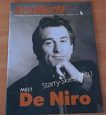 Singapore Airlines Kris World Robert De Niro~Backstreet Boys 2001 Inflight Magz