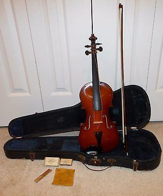 RARE Vintage 1936-39 V-15 Gibson Violin with Case and Bow