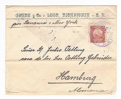 Nicaragua cover to Germany 1895
