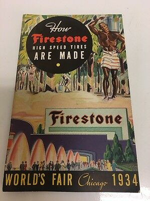 1934 Firestone Tires Chicago Worlds Fair Booklet Pamphlet