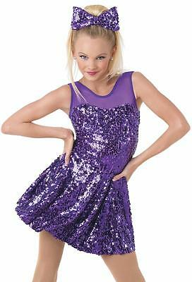Dance Costume 6X-7 CHild Purple Sequin Dress Jazz Tap Solo Competition Pageant