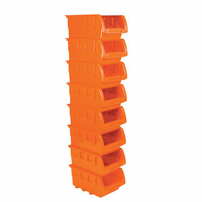 8 Stackable Storage Bins with included Wall Mount by PowerXT (PWXT97902)