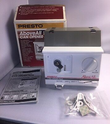 Presto Above All Automatic Under Cabinet Can Bottle & Bag Opener Plus 05603 NIB