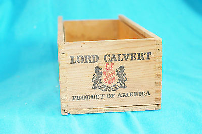 Vintage Lord Calvert Dovetailed Wooden Box - No Lid
