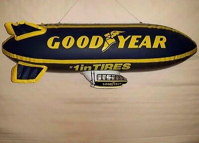 """Large 30"""" RARE VERSION VINTAGE Goodyear #1 In Tires Inflatable Advertising Blimp"""