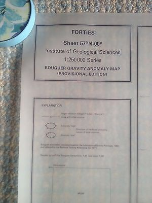 Institute Geological Sciences Bouguer Gravity Anomoly Map FORTIES 57N -00