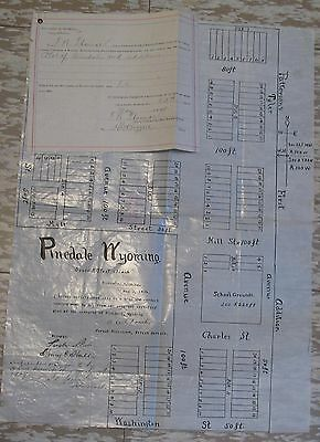 1909 Copy Of Plat Of Pinedale Wyoming
