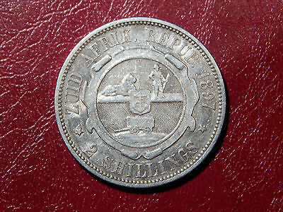 SOUTH AFRICA,ZAR, SUD AFRICA BOERO: 2 Schilling 1897 NC coin