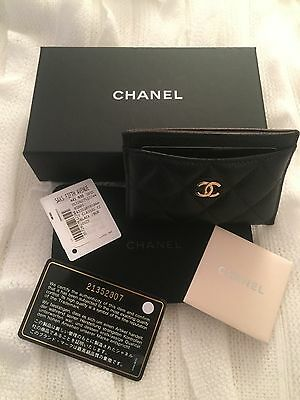 Chanel Caviar Gold CC Card Case Wallet pristine condition RETAIL over $400