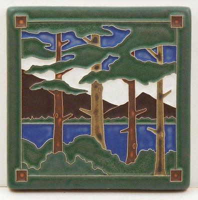 6x6 Arts & Crafts Lake Tahoe Pines Tile by Arts & Craftsman Tileworks E302