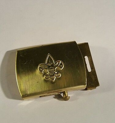 Boy Scouts of America Solid Brass Belt Buckle BSA Emblem