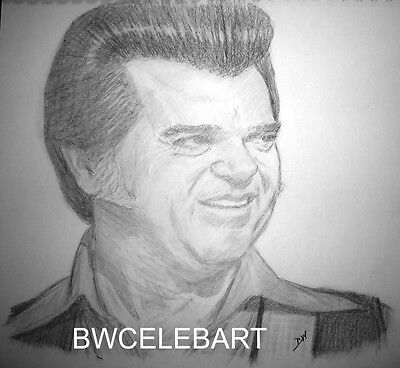 Conway Twitty  Graphite Pencil Drawing Country Music Legend Hello Darlin'