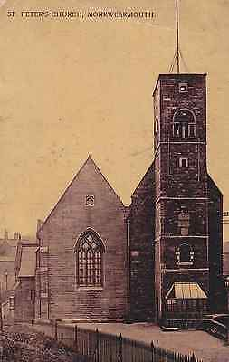 Old Postcard of St Peter's Monkwearmouth, Sunderland, Tyne and Wear
