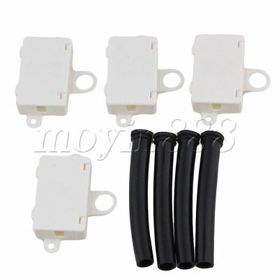 4PCS T06-MM3S Terminals Mini Cable Junction Box with Black Wire Sleeves