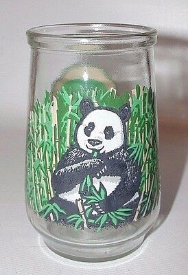 Welch's Jelly Glass Jar Endangered Species WWF GIANT PANDA #1 in Series 1995