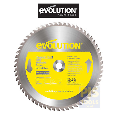 Evolution raptor 355mm x 90T TCT stainless steel cutting saw blade cold cut