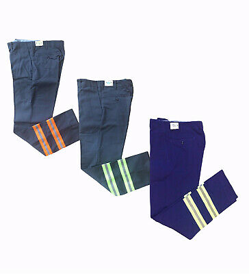 NEW! Work Pants Hi Vis Charcoal Reflective Enhanced Visibility Safety Towing