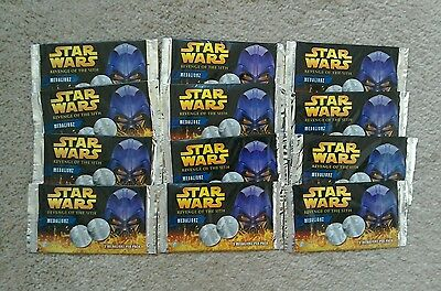 Star wars coins medalionz 12 packs new