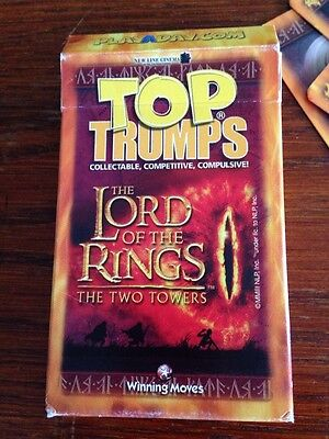 The Lord Of The Rings The Two Towers Top Trumps Cards