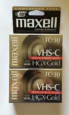 Maxell VHS-C HGX-Gold Camcorder Tape 2-pack