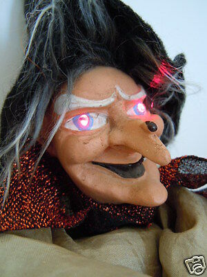 """Witch Doll 14"""" tall Halloween primitive glass eyes puppet FREE ECONOMY SHIPPING"""