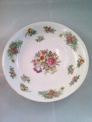 """Aichi China bowl Made In Occupied Japan Floral China Bowl 7.5"""" Round"""