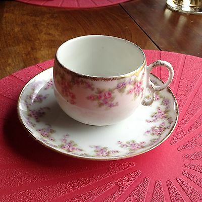 Delicate Limoges cup and saucer