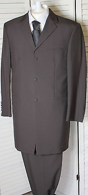 QUALITY MENS BROWN SUIT JACKET WITH FREE TROUSERS 34 36 38 40 42 wedding