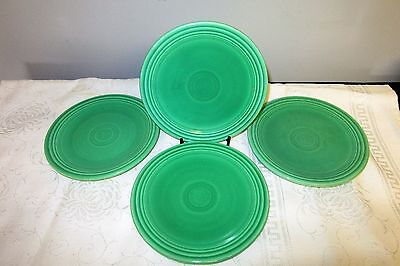 "Vintage Fiestaware Green 6 1/4"" Bread & Butter Plates Set of 4"