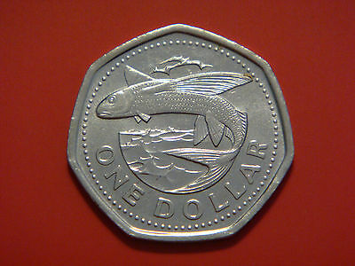 Barbados 1 Dollar , 2009, Flying fish