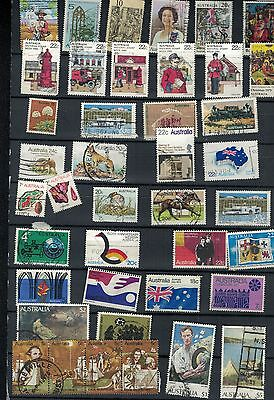 AUSTRALIA, collection of pre 1980,75 diff stamps,nice lot,two scans,few on paper