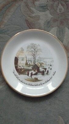 Crown devon plate with dickens quote