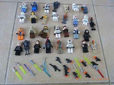 Lego Star Wars Figures Collection X 30 Vgc