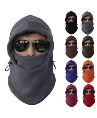 SNOOD  Winter warmer Fleece Mens scarf BLACK Hood Balaclava Neck Face Mask