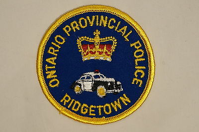 Canadian Ontario Provincial Police OPP Ridgetown Patch
