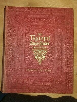The Triumph Stamp Album - WITH APPROX 1050 STAMPS MANY EARLY