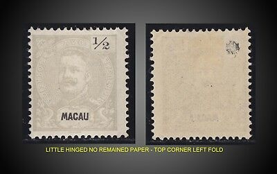 1898 -1903   MACAO  1/2 AVOS PERFORATION 12.1/2  MINT WITH GUM LH SCOTT 75a