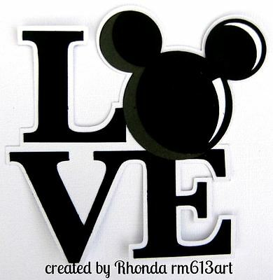 Disney Love Mickey paper piecing title for scrapbook pages by Rhonda rm613art
