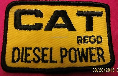 CAT DIESEL POWER EMBROIDERED Patch IRON ON SEW ON 3 x 2 Inch Unused