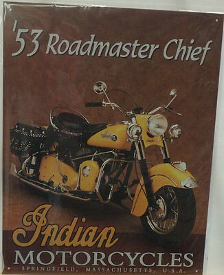 Indian Motorcycles 1953 Roadmaster Chief Sign