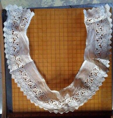 Vintage Net And Bobbin Lace Collar Free Ship!!