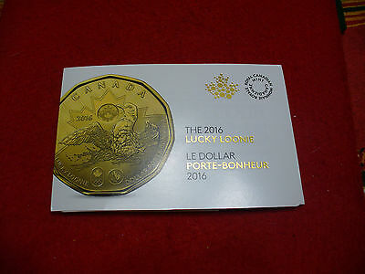 5 Coins -2016  Canada   Dollar  Coin   Lucky Loonie Proof Like Sealed Coins